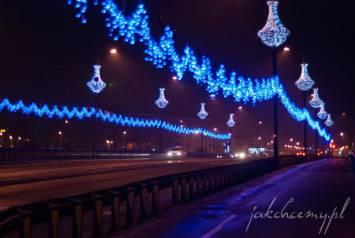 most grunwaldzki w krakowie w świątecznej szacie