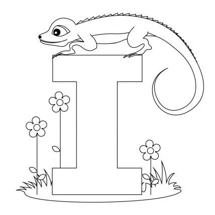 printable-animal-alphabet-letter-i-for-iguana
