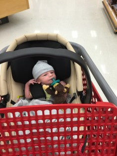 He lasted 5 mins without crying at Target.