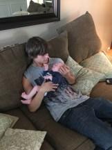My nephew Bryce with Wilder