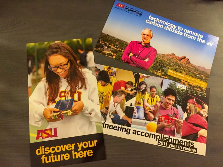 Examples of oversized promotional postcards