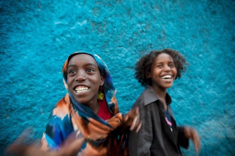 Street scene - Harar, Ethiopia, Africa.