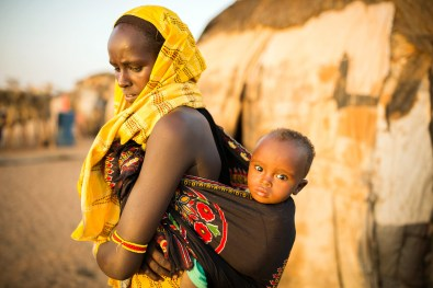 Mother and child in Maikona, Kenya.