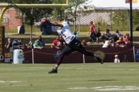 Wide receiver DeSean Jackson makes a catch. Photo by Jake Russell.