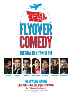 Flyover Comedy at the Improv July 17