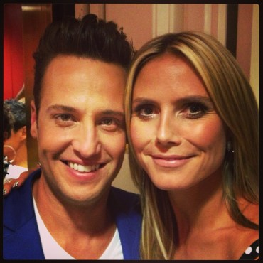 "Branden's performance of ""You Raise Me Up"" brought judge (and staunch supporter) Heidi Klum to tears. (Photo courtesy of Branden James)"
