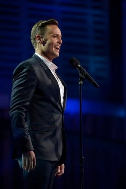 """Classical crossover singer Branden James stole America's hearts when he appeared on """"America's Got Talent"""" earlier this year. (Photo property of NBC's Virginia Sherwood)"""
