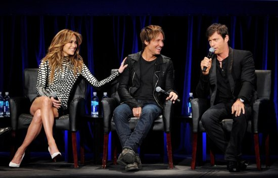 "Jennifer, Keith and Harry continue to have fun while finding new stars on ""American Idol."" (Photo property of Kevin Winter/Getty Images)"