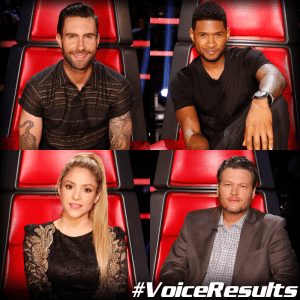 "Shakira and Usher perform with their teams as ""The Voice: Season Six"" reveals Top Eight"