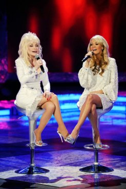 "Carrie Underwood and Dolly Parton teamed up for a beautiful intrepreation of ""I Will Always Love You."" (Photo property of FOX's Michael Becker)"