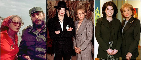 Barbara Walters has interviewed countless world leaders, entertainment icons and controversial figures including Fidel Castro, Michael Jackson and Monica Lewinsky. (Photo property of ABC)