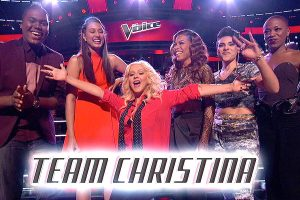 "Team Xtina and Team Adam are front & center for the conclusion of ""The Voice"" playoffs"