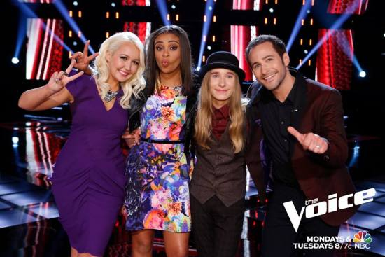 The Voice Season Eight Top Four