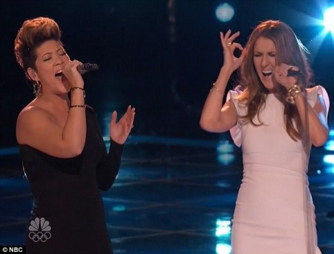 Tessanne Chin and Celine Dion