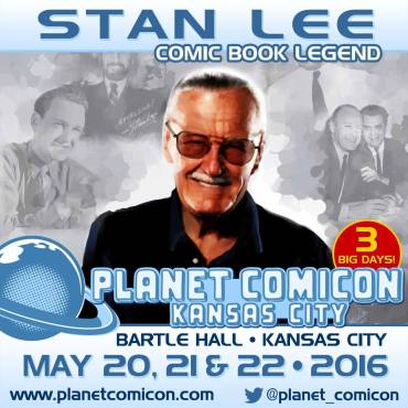 Pop culture icon and legendary comic book creator Stan Lee will be at Planet Comicon! (Graphic property of Planet Productions)
