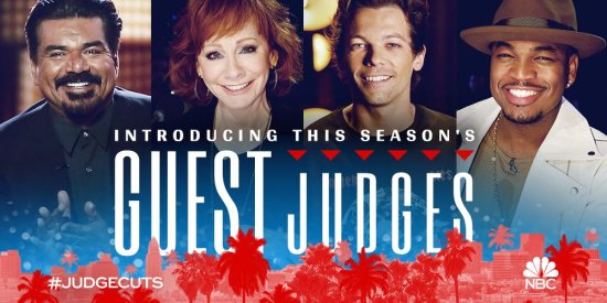 Reba, George Lopez and Louis Tomlinson guest judge AGT