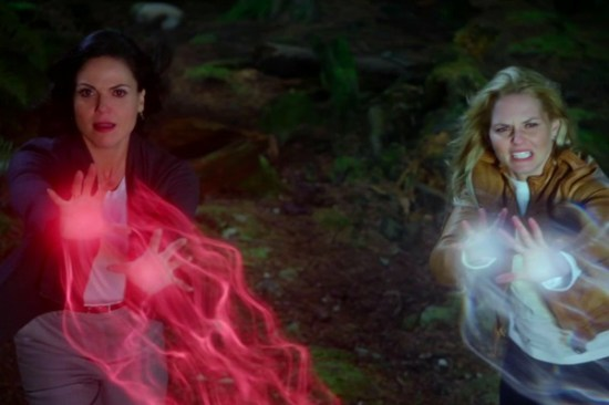 Regina and Emma were forced to travel to the Evil Queen's mirror realm! (Photo property of ABC Studios)