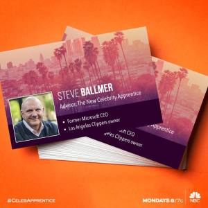 "Steve Ballmer & Leeza Gibbons visit ""The New Celebrity Apprentice"""