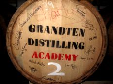 A GrandTen Barrel with a spirit inside fermenting.