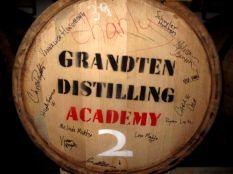 A GrandTen Barrel with a spirit inside fermenting.