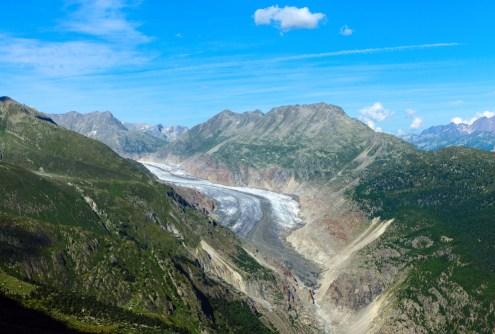 rocks active glacier in valley