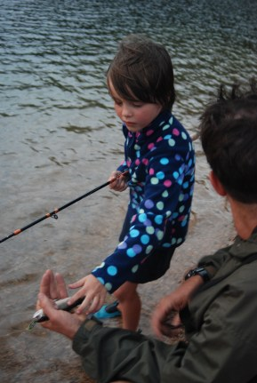 fishing, introduced trout, fish, kids