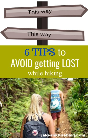 avoid getting lost