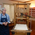This is the type of press that Ben Franklin used to print Poor Richard's Almanack