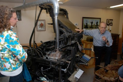 Probably my favorite part of the tour was the Linotype. What an amazing piece of machinery.