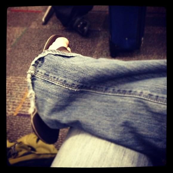 At the airport again. Magic!