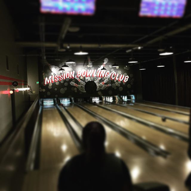 Bowling last night with the @wired tech team.