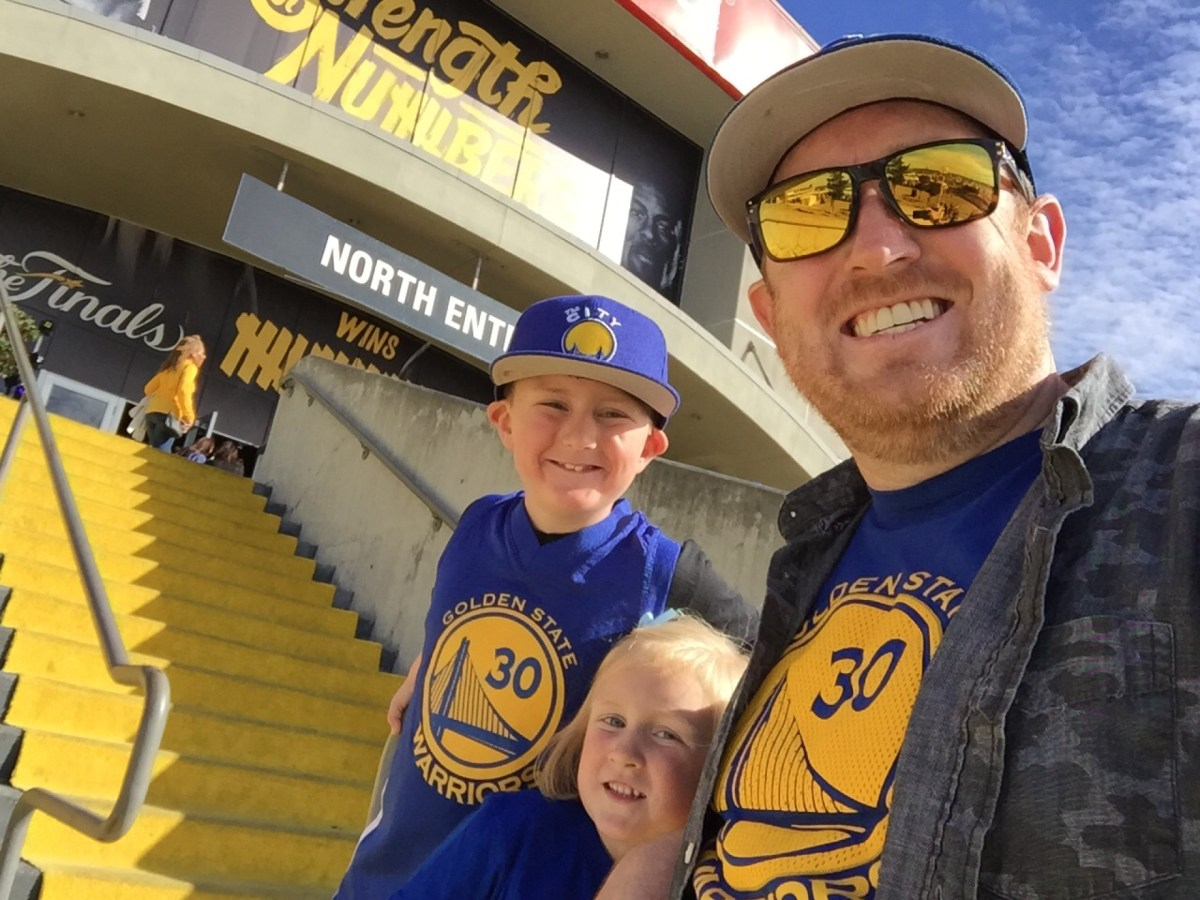 Checked in at Oracle Arena