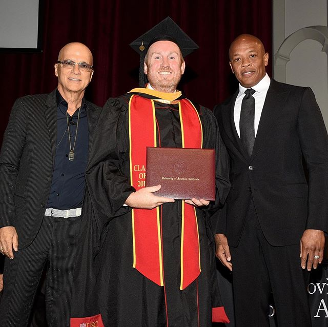 Getting a diploma from Dr. Dre and Jimmy Iovine is still really surreal.