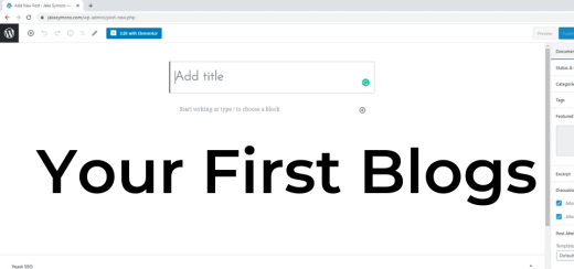 Your First Blogs