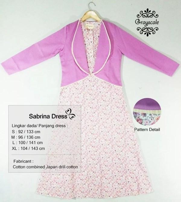 Sabrina Dress Grayscale