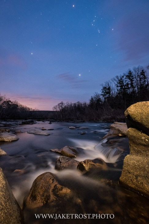 Twilight on the St Francis River, MO