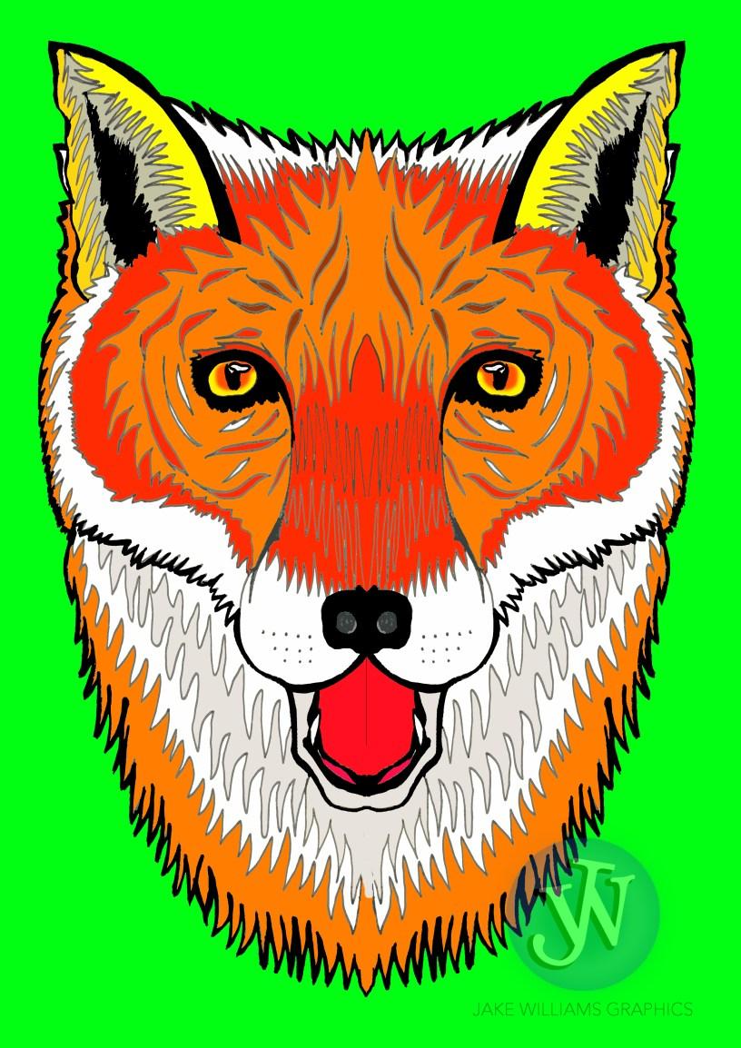 fox with logo