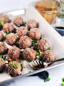 Oven Baked Asian Pork Meatballs bull Keeping It Simple Blog — Fat loss   Weight Loss