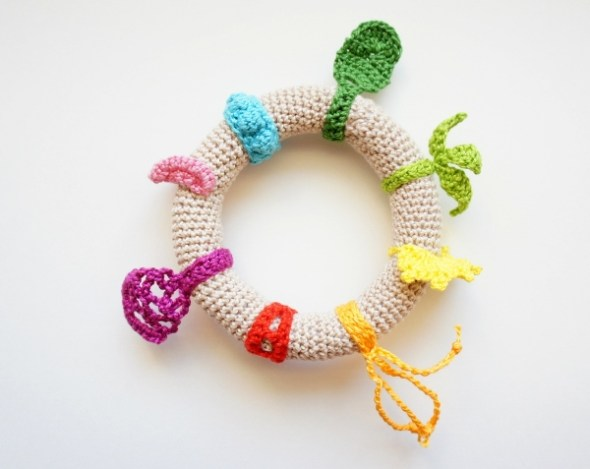 Crochet Infant Toy Ring by JaKiGu