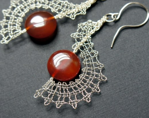 Bobbin Lace Earrings by JaKiGu