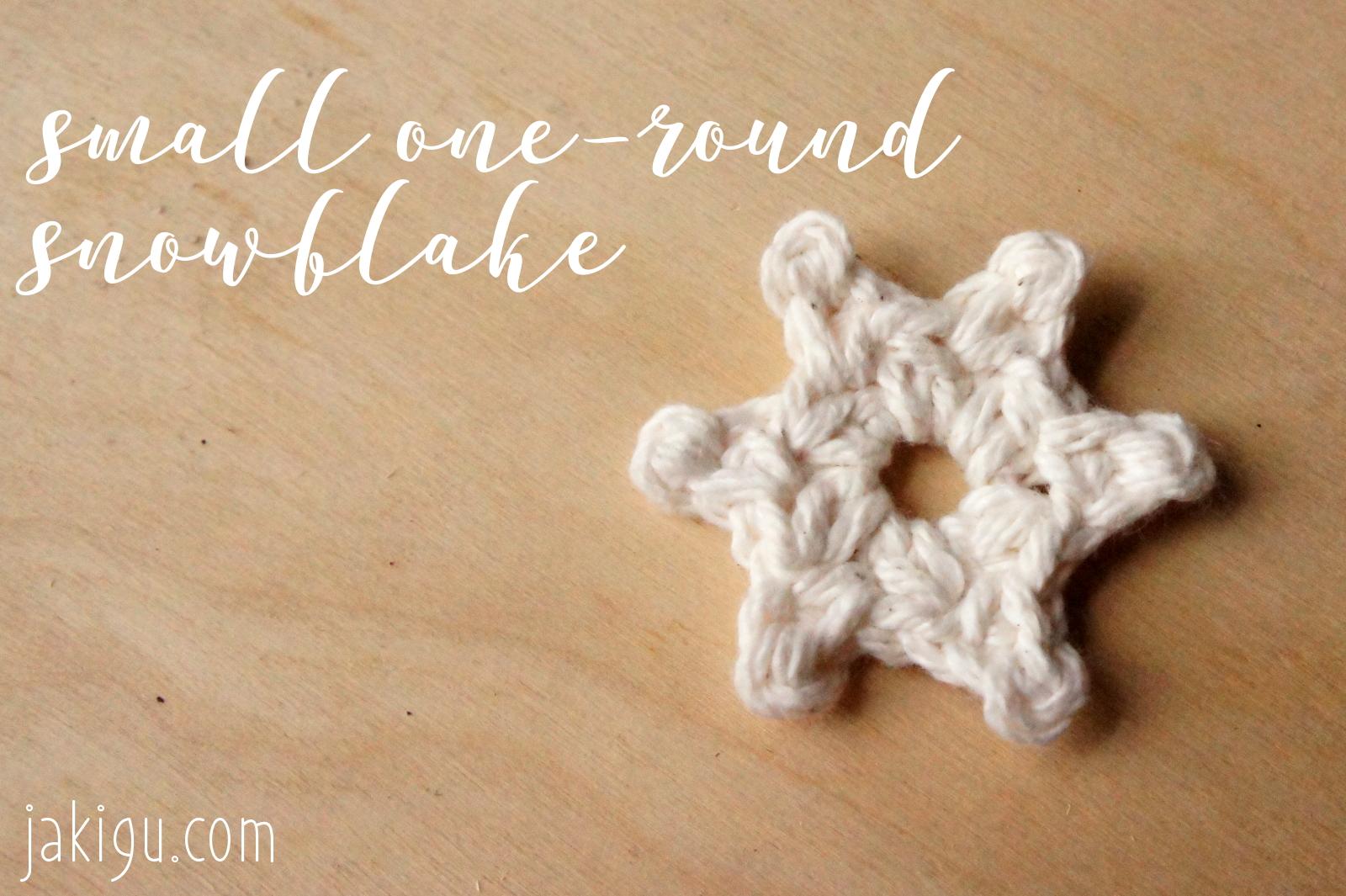 Free Crochet Pattern Small One Round Snowflake Jakigu