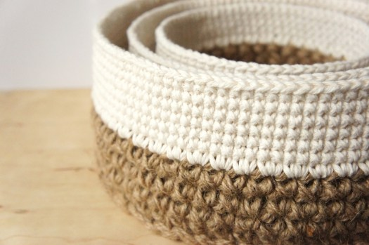 Crochet Stacking Baskets Pattern by JaKiGu
