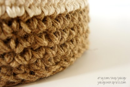 Round Jute and Cotton Stacking Baskets | jakigu.com crochet pattern