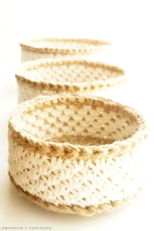 Stacking Baskets Crochet Pattern by JaKiGu