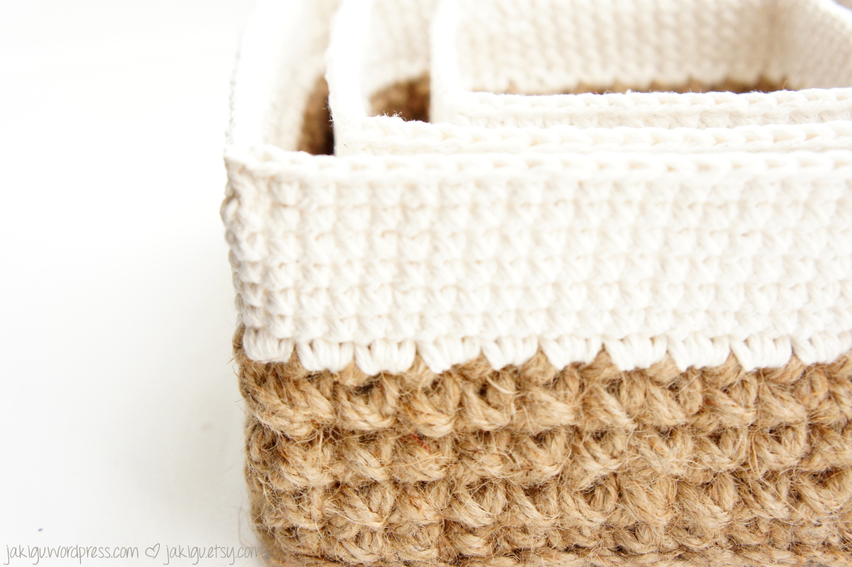 Square Jute and Cotton Stacking Baskets - JaKiGu