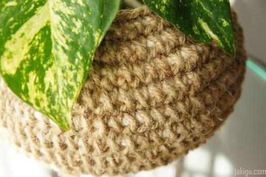 Jute and Cotton Crochet Bowl