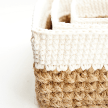 Square Jute and Cotton Baskets | | jakigu.com crochet pattern