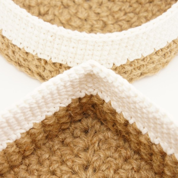 Crochet pattern bundle for round and square jute and cotton stacking baskets (JaKiGu)