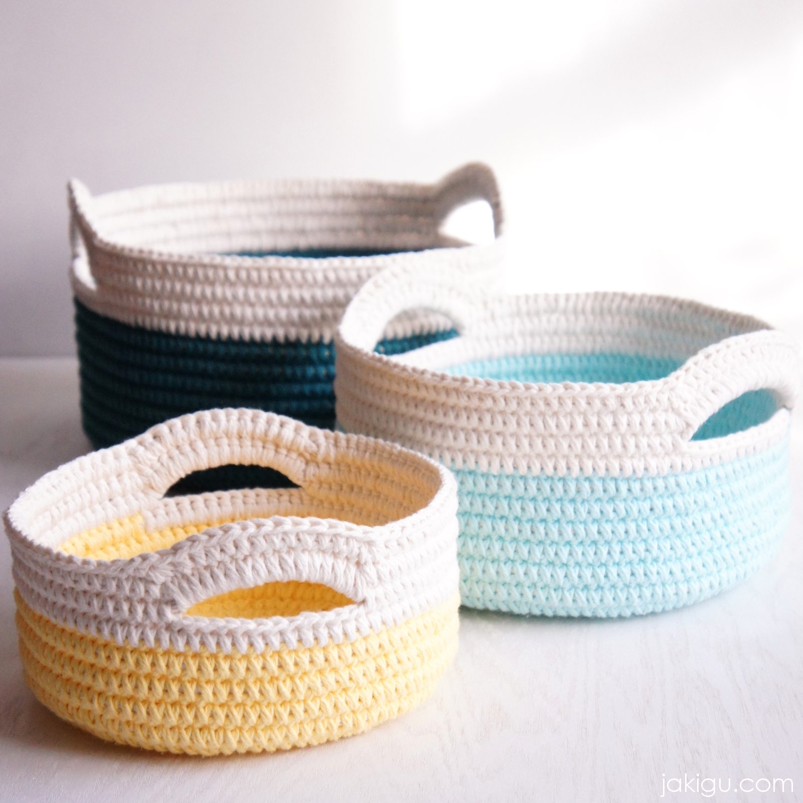 Crochet Basket With Handles Pattern Awesome Inspiration Ideas