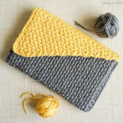 Crochet journal cover / book cover / handbag / crochet pattern by jakigu.com